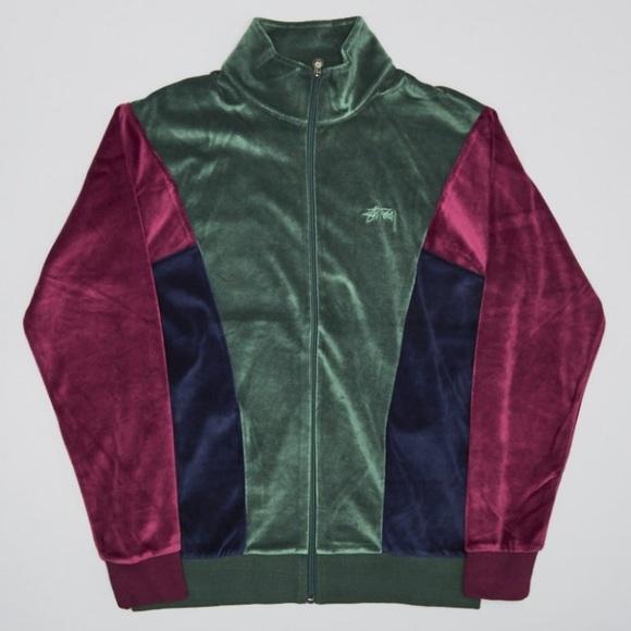 1e9bad84a Stussy Jackets & Coats | Velour Paneled Track Jacket | Poshmark